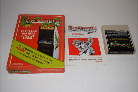 Venture Atari 2600 Video Game Complete Box Tested Coleco ...