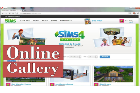 The Sims 4-Tutorial:Online Gallery|SimsPinky - YouTube