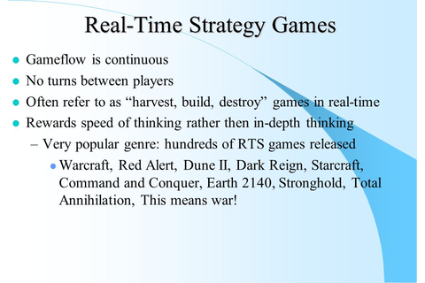Real-Time Strategy Games - ppt download
