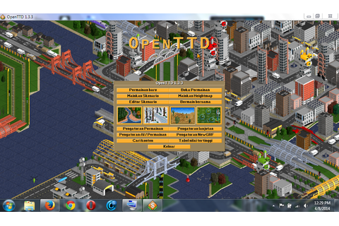 Bermain Game OpenTTD(Open Transport Tycoon Deluxe) - Alfisbu
