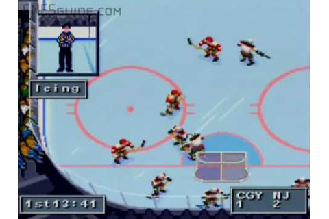 NHL '95 - SNES Gameplay - YouTube