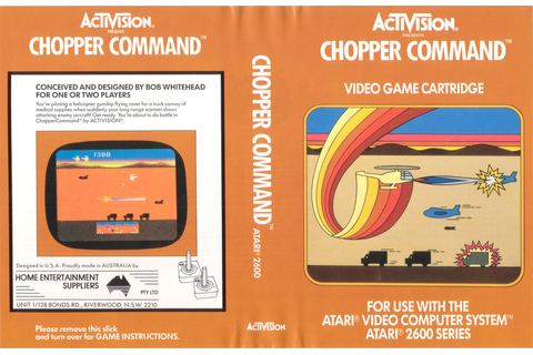 Atari 2600 / VCS - Chopper Command - PAL - Game 3 ...