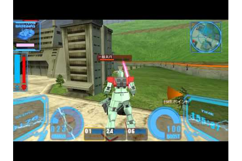 PSP Gundam Senjou no Kizuna Portable Gameplay 1/2 - YouTube