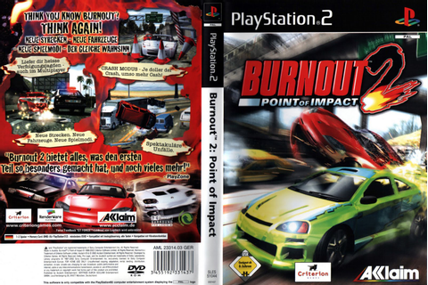 Burnout 2 Point Of Impact - Playstation 2 - Ultra Capas