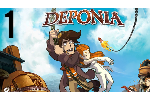 Deponia part 1 (Game Movie) (Story Walkthrough) (No ...