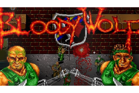 1989 Bloody Wolf (TurboGrafx) Old School retro game ...