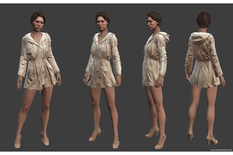 Amy - Game Character - Polycount Forum | Low poly ...