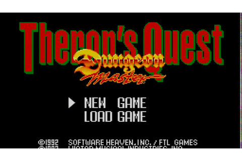 Play Dungeon Master Theron's Quest for PC Engine Part 1 ...