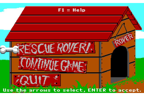Download Rescue Rover puzzle for DOS (1991) - Abandonware DOS