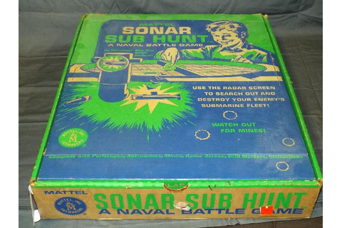 Boxed 1960's Mattel Sonar Sub Hunt Battle Game
