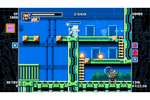 Mighty Gunvolt Burst Gameplay - YouTube