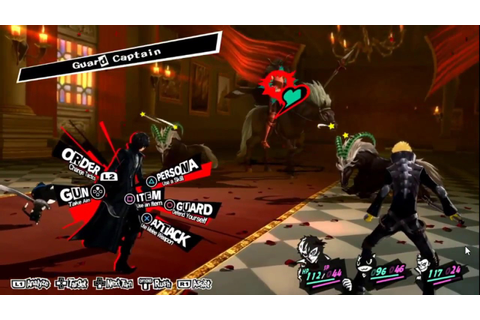 PERSONA 5 - Battle and Dialogue Gameplay - YouTube