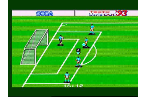 TECMO WORLD CUP '93 MASTER SYSTEM - YouTube