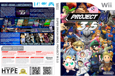 Project M 3.5 Custom Wii Game Cover by LipeSan on DeviantArt