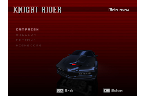 Knight Rider The Game demo file - Mod DB