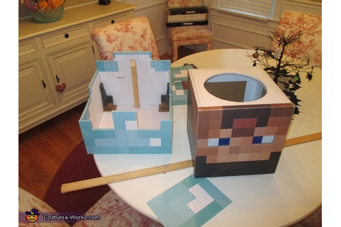 Minecraft Diamond Armor Steve Costume - Photo 4/8