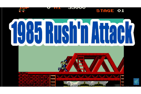 1985 Rush'n Attack Green Beret Old School Arcade Game ...