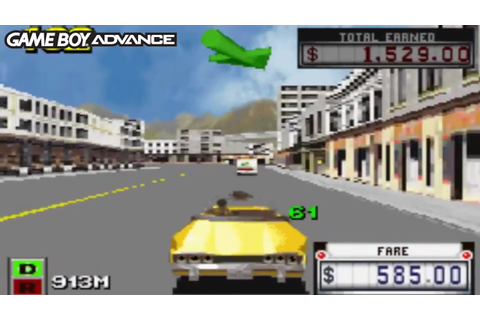 Crazy Taxi: Catch a Ride (Gameboy Advance Gameplay) - YouTube