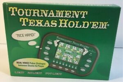 Tournament Texas Hold 'Em Hand Held Electronic Game SMR ...