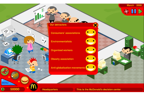 McDonald's Video Game - Games4Sustainability