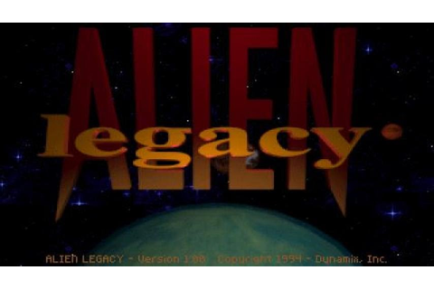Alien Legacy gameplay (PC Game, 1994) - YouTube
