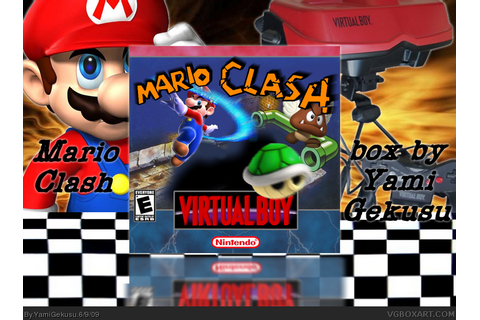 Mario Clash Virtual Boy Box Art Cover by YamiGekusu