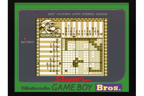 Mario Picross on game boy (Super game boy) - YouTube