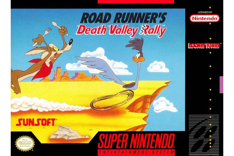 Road Runner's Death Valley Rally SNES Super Nintendo