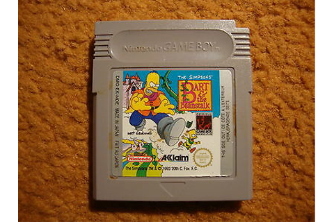 Jeu THE SIMPSONS BART AND THE BEANSTALK RARE GAME BOY ...
