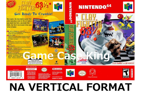 ClayFighter 63⅓ N64 video game case | Game Case King ...