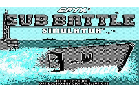 Sub Battle Simulator gameplay (PC Game, 1987) - YouTube
