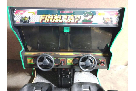 "Namco ""Final Lap 2"" Video Arcade Race Car Game"