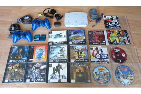 Playstation 1 PSone + 17 games + controllers + memory ...