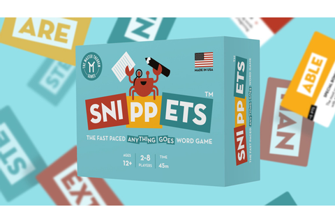 Snippets - The Fast Paced Anything Goes Word Game by Shaun ...
