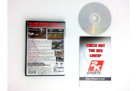 ESPN Major League Baseball 2K5 game for Playstation 2 ...