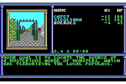 Secret of the Silver Blades rpg for DOS (1990 ...