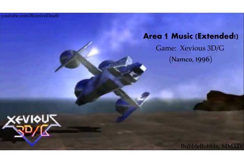 Xevious 3D/G (Arcade) - Area 1 Music (Extended) - YouTube