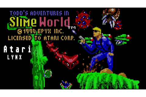 Todd's Adventures in Slime World - Atari Lynx (1990) - YouTube