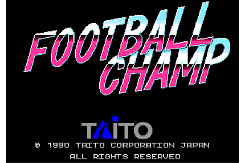 VGJUNK: FOOTBALL CHAMP (ARCADE)