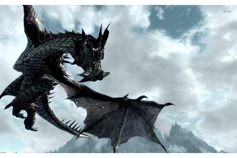Skyrim Dragon Wallpapers - Wallpaper Cave