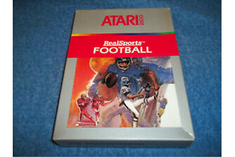 NEW ( NOS ) ATARI 2600 REALSPORTS FOOTBALL GAME IN FACTORY ...