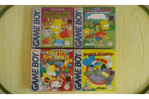 Nintendo Game Boy games. The Simpsons series, HELP no Bart ...