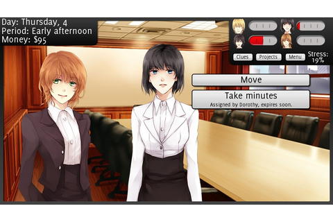 mystery / dating sim game