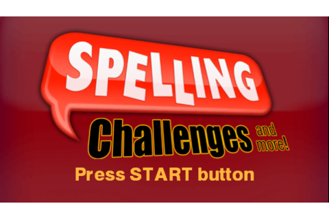 Play Spelling Challenges and More Online PSP Game Rom - PSP Emulation ...