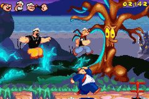 Popeye: Rush for Spinach (2005) by Magic Pockets GBA game