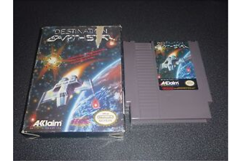 Destination Earthstar Nintendo NES Game in original box ...