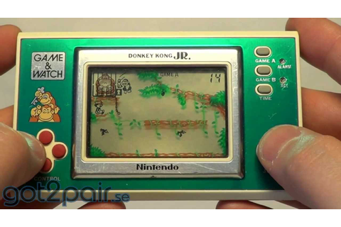 DONKEY KONG JR DJ-101 - Nintendo Game & Watch - YouTube