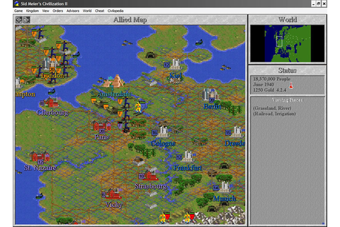 Civilization 2 strategy for Windows XP (1996 ...
