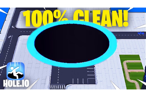 CLEARING OUT 100% OF THE MAP! // Hole.io - YouTube
