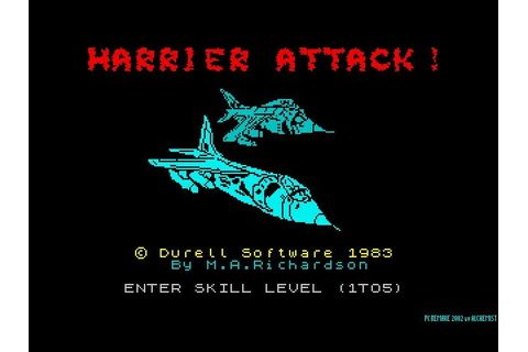 Harrier Attack Download (2002 Arcade action Game)